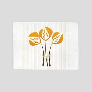 Art Deco Tulip 5'x7'Area Rug