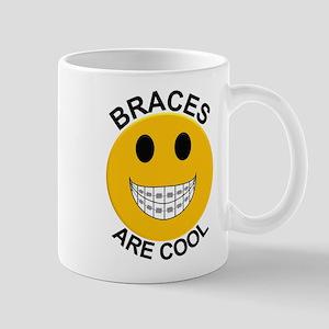Braces Are Cool Smiley Face Mug Mugs