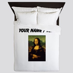 Custom Mona Lisa Oil Painting Queen Duvet