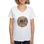 FIN-c-24-7-WonB Women's V-Neck T-Shirt