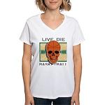 Live Die Basketball Women's V-Neck T-Shirt