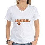 Sportsnuts Basketball Logo Women's V-Neck T-Shirt