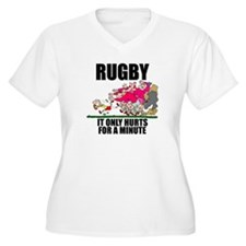 Rugby Hurts Women's Plus Size V-Neck T-Shirt