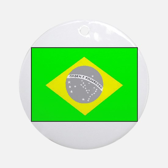 Brazilian Pride Ornament (round)
