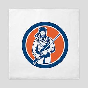 Davy Crockett American Frontiersman Queen Duvet