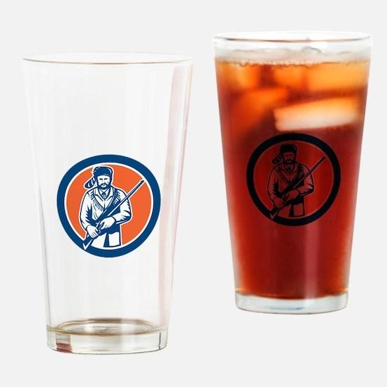 Davy Crockett American Frontiersman Drinking Glass