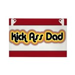 Kick Ass Dad Rectangle Magnet