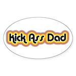Kick Ass Dad Oval Sticker