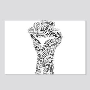 NO JUSTICE NO PEACE Fist Postcards (Package of 8)
