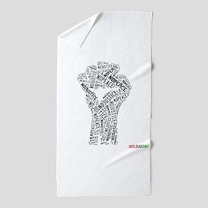NO JUSTICE NO PEACE Fist Beach Towel