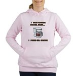 FIN-looking-mister-right Women's Hooded Sweats