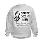 FIN-coffee-chocolate-men Kids Sweatshirt