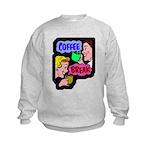 FIN-coffee-break-retro Kids Sweatshirt