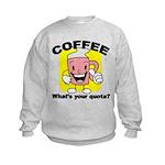 FIN-coffee-quota Kids Sweatshirt