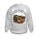 FIN-fair-trade-justice Kids Sweatshirt