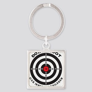 Don't Shoot Children Bullseye Keychains