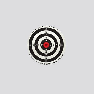 Don't Shoot Children Bullseye Mini Button
