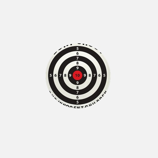 Don't Shoot Children Bullseye Mini Button