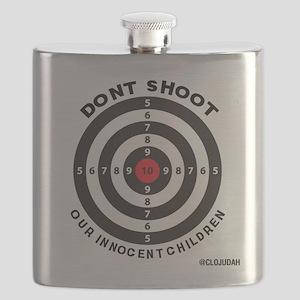 Don't Shoot Children Bullseye Flask