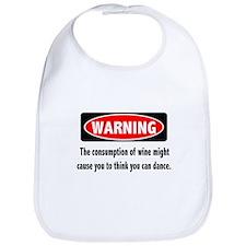 Wine Warning Bib