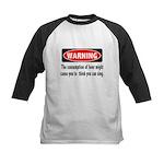 FIN-warning-beer-sing.png Kids Baseball Jersey