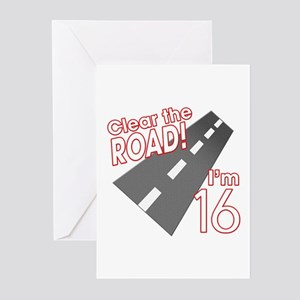 Clear The Road Im 16 Greeting Cards Pk Of 10