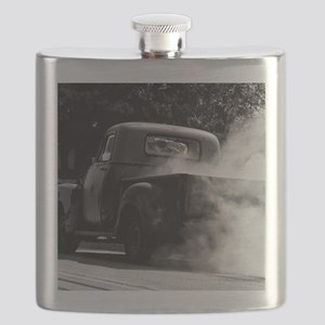 Vintage Truck Hot Smoking Tires Flask