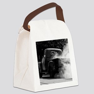 Vintage Truck Hot Smoking Tires Canvas Lunch Bag