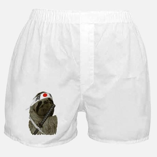 Samurai Sloth Boxer Shorts