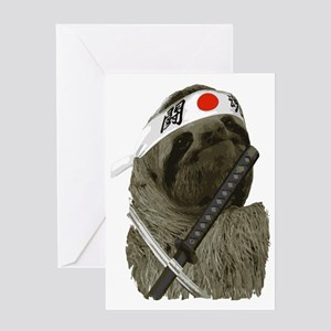 Samurai Sloth Greeting Card