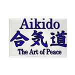 Aikido :: The Art of Peace Rectangle Magnet (100 p