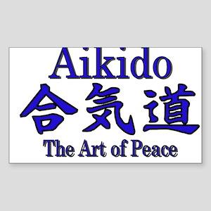 Aikido :: The Art of Peace Rectangle Sticker