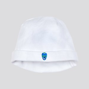 Blue Day Of The Dead Skull baby hat