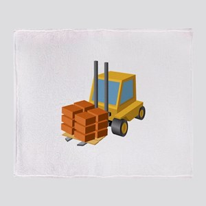 Forklift Lifting Machinery Throw Blanket