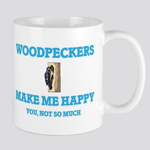 Woodpeckers Make Me Happy Mugs