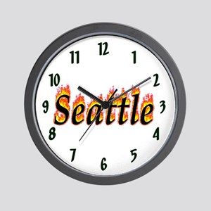 Seattle Flame Wall Clock