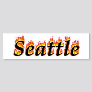 Seattle Flame Bumper Sticker