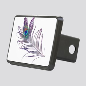 PEACOCK FEATHER Rectangular Hitch Cover