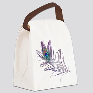 PEACOCK FEATHER Canvas Lunch Bag