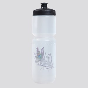 PEACOCK FEATHER Sports Bottle