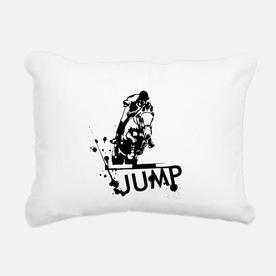 EQUESTRIAN JUMP Rectangular Canvas Pillow