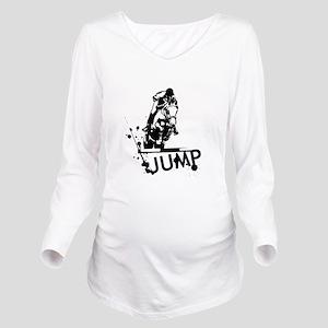 EQUESTRIAN JUMP Long Sleeve Maternity T-Shirt