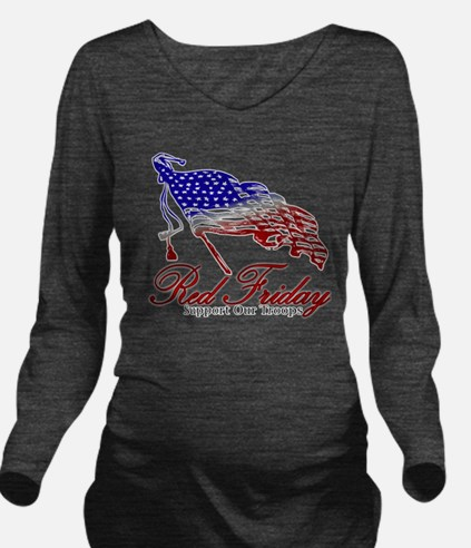 Red Friday Support Long Sleeve Maternity T-Shirt