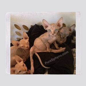 Sphynx Kittens Throw Blanket