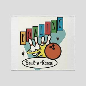 RETRO BOWLING Throw Blanket