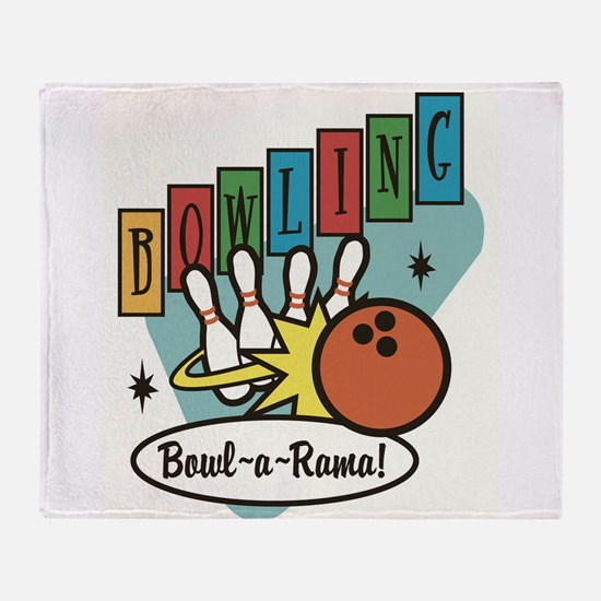 RETRO BOWLING Throw Blanket
