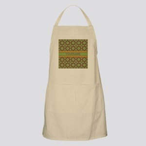 Custom Green and Brown Pattern Apron