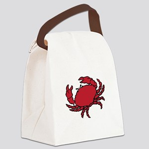 Red Crab Canvas Lunch Bag