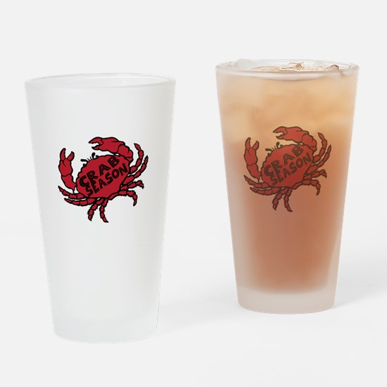 Crab Season Drinking Glass