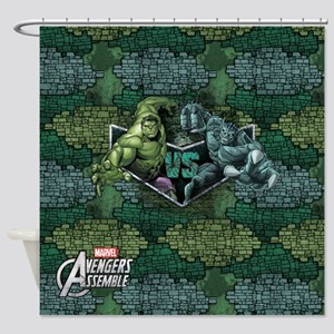 Hulk vs Abomination Shower Curtain